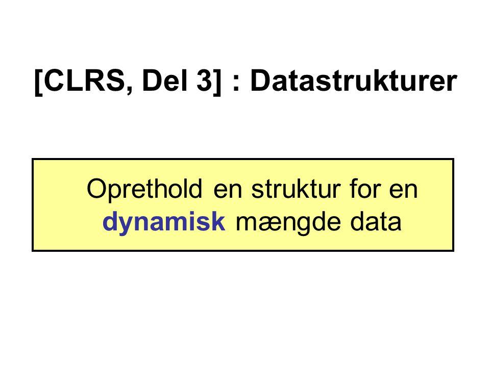 [CLRS, Del 3] : Datastrukturer